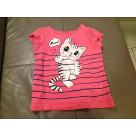 T-Shirt Palomino Rose Fille Motif Chat Manches Courtes 4 Ans