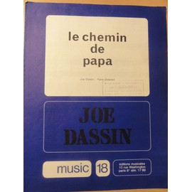 "Partition ancienne de Joe Dassin "" Le chemin de Papa """