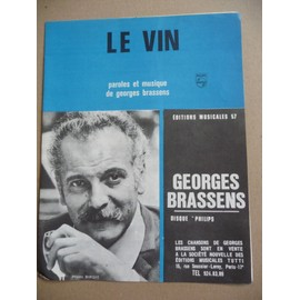 le vin   Georges Brassens