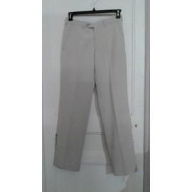 Pantalon Classique De Costume Homme,Blanc Cass� 38