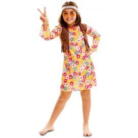 D�guisement Hippie Fille (Taille 7 � 9 Ans) Ann�es 60 / Hippie