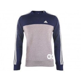 Ess Lin 3s Crew Gri - Sweat Entrainement Homme Adidas