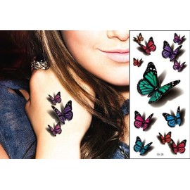 Tatouage Temporaire 3d Papillons Tatouage �ph�m�re