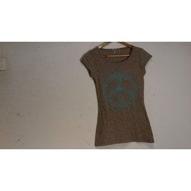 T-Shirt Peace And Love Hippie Taille S Femme
