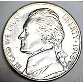 Pi�ce 5 Cents Dollar 1995