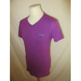 T-Shirt Guess Violet Taille M � - 52%