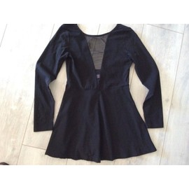 Robe Sheinside Noire Neuve Taille 34 !! Superbe D�collette Transparent R�sille !!