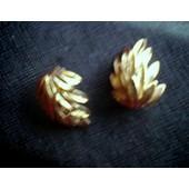 Boucles D'oreilles (Clip) Feuille