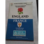 England France Du 45/03/1989 Rugby Football Union