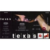 Ticket Billet Place Concert Unused Texas 1997 Paris Bercy
