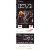 Ticket Billet Place Concert Unused Robert Plant Jimmy Page 1995 Paris Bercy Led Zeppelin