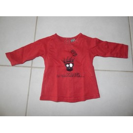 T-Shirt Manches Longues Rouge Gar�on 3 Mois