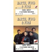 Ticket Billet Place Concert Unused Earth Wind & Fire 1990 Paris Bercy