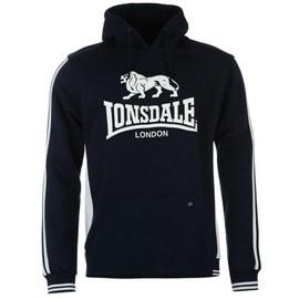 Sweat-Shirt � Capuche Lonsdale Noire Blanc Ou Marine Blanc Pour Homme