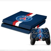 Autocollant Psg Paris Stickers Skins Ps4 + 2 Skins Manettes