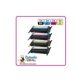 Samsung 4072s - Lot 4 Toners Compatible Clp 320 320n 325 325w Clx 3180 3185 3185fn 3185fw 3185n - K4072s C4072s M4072s Y4072s