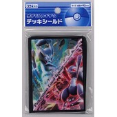 Paquet De 32 Pochettes Prot�ges Cartes Pok�mon Center Mega Mewtwo Xy 66x92mm Standard Sleeves
