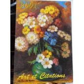 Calendrier Art Et Citations De 2001 Reproductions D'oeuvres Originales D'artistes Peignant De La Bouche Et Du Pied