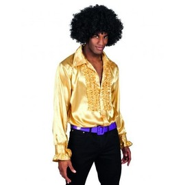 Chemise Disco Dor�e Homme, Taille Large