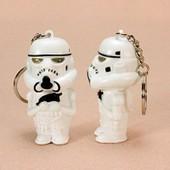 Porte Clefs Cl�s Cl� Neuf Storm Trooper Blanc Arm�e Dark Vador Figurine Blanche Sonore Lumineux Star Wars Guerre Des �toiles Id�al Cadeau