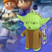 Porte Clefs Cl�s Cl� Neuf Maitre Yoda Jedi Vador Figurine Sonore Lumineux Star Wars Guerre Des �toiles Id�al Cadeau
