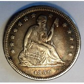 Etats-Unis - Quarter Dollar Seated Liberty 1859 O (Argent)