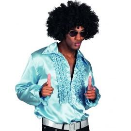 Chemise Disco Bleu Clair Homme, Taille Xl