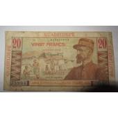 Billet De 20 Francs De Guadeloupe