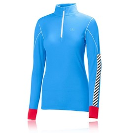 Helly Hansen Active Flow Femme Bleu Manche Longue T Shirt Haut Sport Running Top