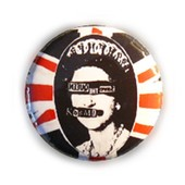 Badge Savethequeen British Drapeau Anglais Uk Rock Punk Gb Culte Vintage 80's Retro Pins Button �25mm