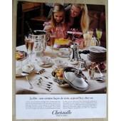 Publicit� Papier - Argenterie Christofle De 1981
