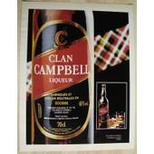Publicit� Papier - Liqueur Clan Campbell De 1981