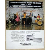 Publicit� Papier - Cha�ne Hi-Fi Technics De 1981