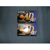 2 cassettes audio TDK AD 90 normal position IECI/TYPE I