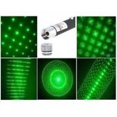 pointeur laser vert tres puissant avec embout plusieur effet 1mw pret a l'emploi pile offerte