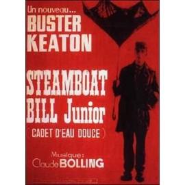 Steamboat Bill Junior / Cadet D'eau Douce -V�ritable Affiche De Cin�ma Pli�e - Format 120x160 Cm - De Charles Reisner Avec Buster Keaton, Ernest Torrence, Tom Mcguire - 1928 Reedition 1970