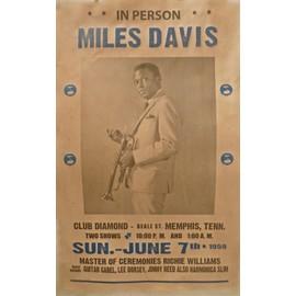 MILES DAVIS affiche de concert club diamond