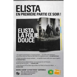 Flyer du groupe ELISTA - 1ère partie Hubert-Félix Thiéfaine - Paris/Zénith 2006