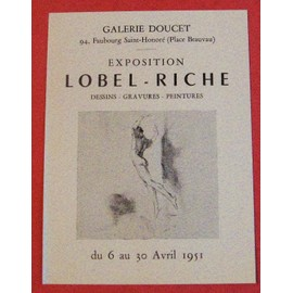 Exposition Lobel - Riche Peinture Galerie Doucet Paris 1951 �ph�m�ride
