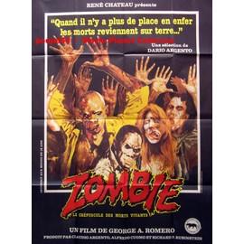 Affiche ( Format 120 X 160 Cm Pli�e D'origine ) Du Film Zombie (Dawn Of The Dead) R�alis� Par George Romero, 1978