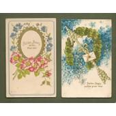 2 C.P. Anciennes & Illustrateur - (Chromos, Gaufr�e) -