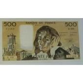 Billet De 500 Francs Pascal Type 1968 De L'an 1976