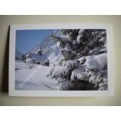 Carte Double - Village De Savoie (Paysage Enneig�) - 17.5 X 12 Cm - Avec Enveloppe.