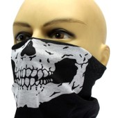 Tour De Cou T�te De Mort (Style Ghost Call Of Duty ) Microfibre Noir -Masque Cagoule Bandana Polyvalent Skull Biker Protection Moto Air Soft Ski Homme Femme Airsoft Paintball