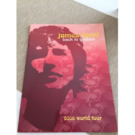 Programme Concert James Blunt world tour 2006