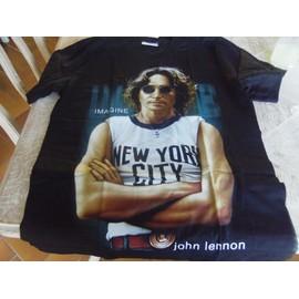 T-shirt The Roxx BEATLES John LENNON Imagine Taille M noir