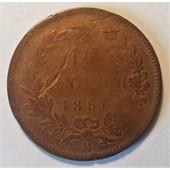 Italie - 10 Centesimi Victor Emmanuel Ii - 1866 M