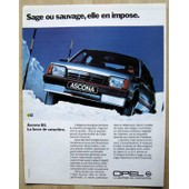 Publicit� Papier - Voiture Opel Ascona De 1986