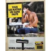 Publicit� Papier - Rasoir M�canique Schick De 1986