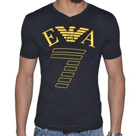Ea7 - Tee Shirt Manches Courtes - Homme - 273755 - Big 7 Col V - Noir Jaune